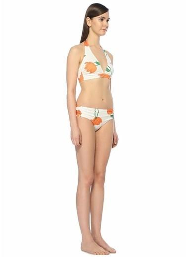 Ganni Çiçekli Bikini Takım Beyaz